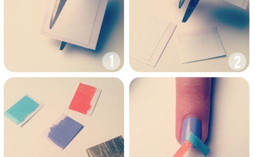 Herringbone nail tutorial Nails Art