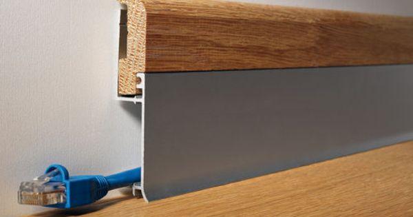 Plinthe En Aluminium Pour Cablage Electrique Battiscopa Bi Bicolor Profilitec Plinthes Idees Pour La Maison Design Interieur Contemporain