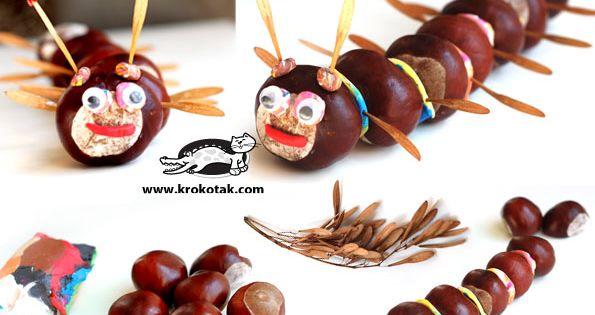 Herbstbasteln - Acorn and chestnut crafts ...