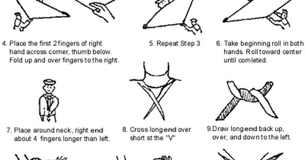 How To Roll And Tie A Navy Neckerchief Harlen R Dickson