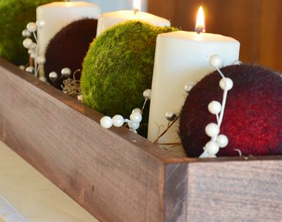Christmas table decor DIY, Christmas decor table ideas, Holiday Christmas candle 2013
