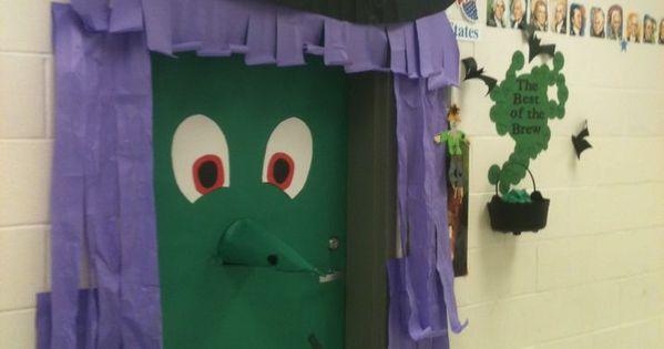 D coration de la porte de la classe halloween for Decoration porte salle de classe