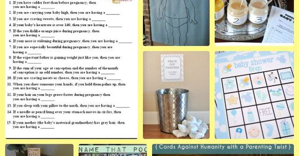 baby shower games a great diy theme or idea for gifts and party green baby pinterest baby. Black Bedroom Furniture Sets. Home Design Ideas