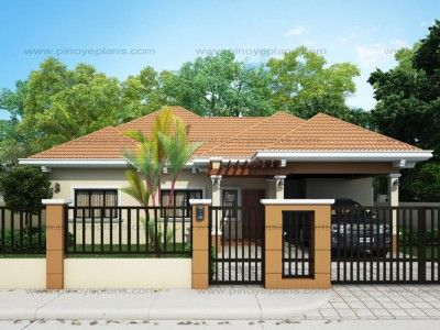 Clarissa One Story House With Elegance Shd 2015020 Pinoy Eplans Philippines House Design Simple House Design Bungalow House Design