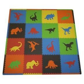 Tadpole Mat 16 Piece Dinosaurs Dinosaur Room Dinosaur Nursery Kids Rugs