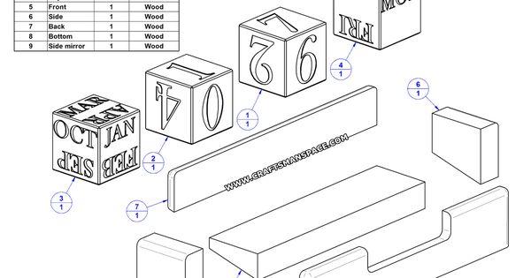 wooden block clock instructions