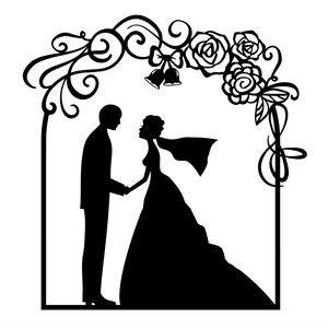 Wedding or Garden Flower Arch die cut shapes x6