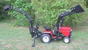 Sears Craftsman Gt5000 Garden Tractor Loader And Backhoe 2 Small Tractors Garden Tractor Attachments Garden Tractor