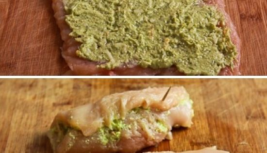 Pesto & Cheese Stuffed Chicken | Chicken | Pinterest | Cheese Stuffed ...