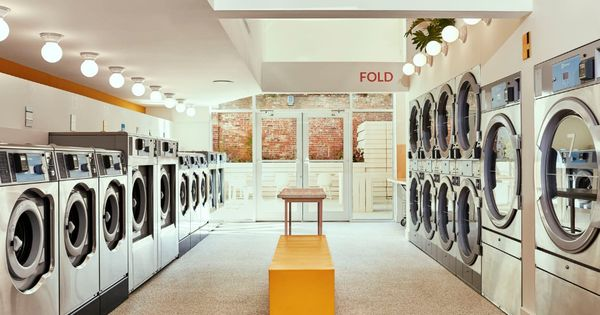 The Perfect Laundromat Doesn T Ex Wait It S Beautiful Comfortable And Has Free Detergent Laundry Shop Laundromat Laundromat Business