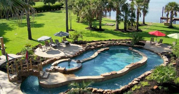 Pool, hot tub, AND a lazy river... Pretty much a dream! Goal