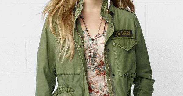 Denim Amp Supply Ralph Lauren Hooded Military Field Jacket