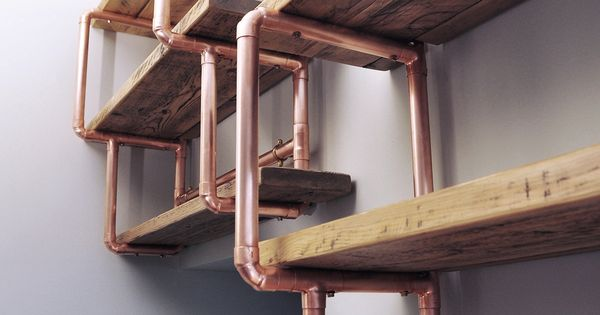 Copper Pipe Reclaimed Wood Shelving For Sale Pinterest