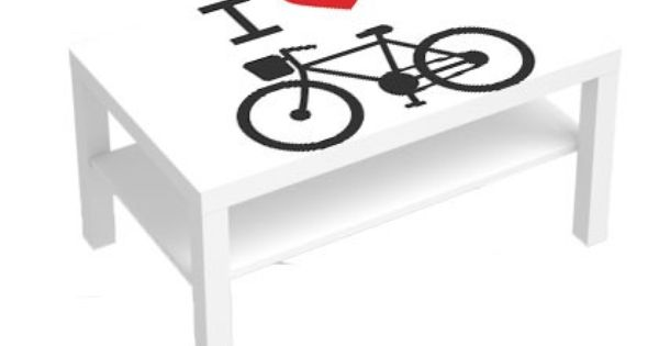 stickers pour table basse lack 90x55 i love bike deco sticker design stickers pour meuble. Black Bedroom Furniture Sets. Home Design Ideas
