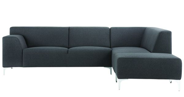 A0000712 2 5 hoek zits eiland links 100 stoffencollectie berlin dark grey chroom - Hoek sofa x ...
