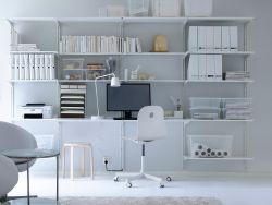 ikea wall mounted office shelves