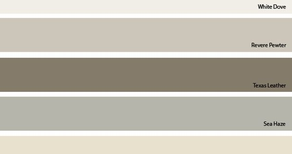Our Colors White Dove Trim Amp Ceilings Revere Pewter