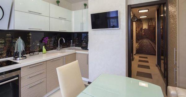 meleg színek, természetes anyagok - kétszobás lakás otthonos, Kuchen