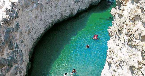 The sea caves of Papafragas, Milos, Cyclades, Greece.