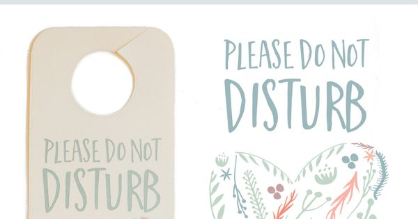 Do Not Disturb The Newlyweds Door Hanger Free Printable