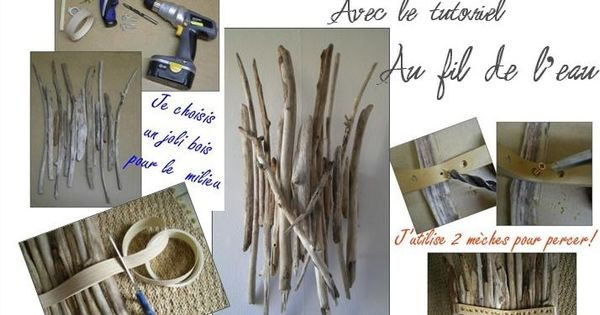 fabriquer une applique murale en bois flott crafts pinterest appliques. Black Bedroom Furniture Sets. Home Design Ideas