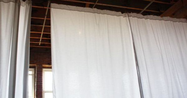 How To Hang 30 Of Curtains For 40 Diy Room Divider Room