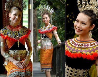 Steveen Ben Keunikan Pakaian Traditional Bangsa Iban Sarawak Sarawak Women Festival Captain Hat