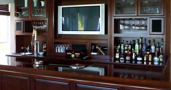 Custom bar designs bar cabinets closets garage storage for Office wet bar