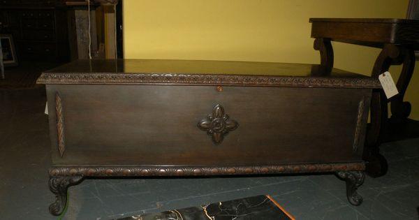 Antique Walnut Cedar Hope Chest Bedroom Furniture By Continental Desk Co Antique Cedar Chests