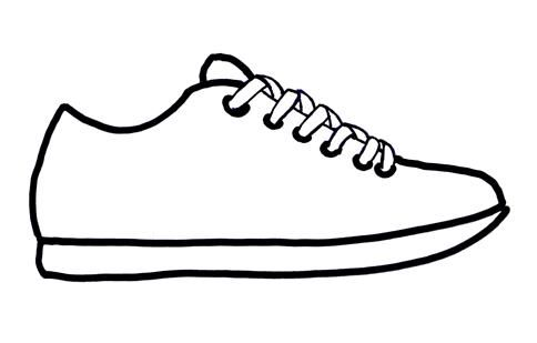 Sneak Into A New School Year Pt 5 Shoe Template Shoes Clipart Shoe Art
