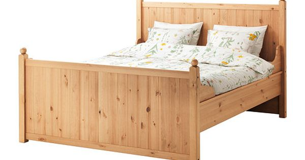 Hurdal cadre de lit brun clair l nset lit 140x200 ikea et lits - Couette 140x200 ikea ...