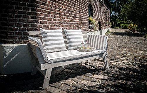 Greemotion Gartenbank Hawaii Aus Holz Inkl Auflagen Outdoor Gartensofa Mit Klappbarer Armlehne Fur Garten Terrasse Bal Gartensofa Outdoor Sofa Akazienholz
