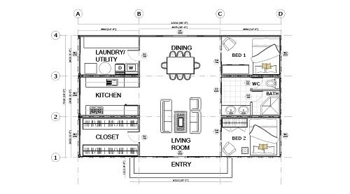 Container Home Floor Plans Container House Container House Plans Floor Plan Design