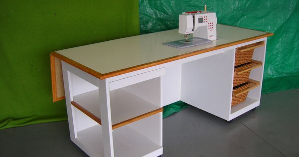 Sewing Table Drop Down Leaf On Wheels Perfect Crafts