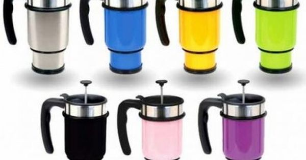 French Press Travel Mug - Double Shot