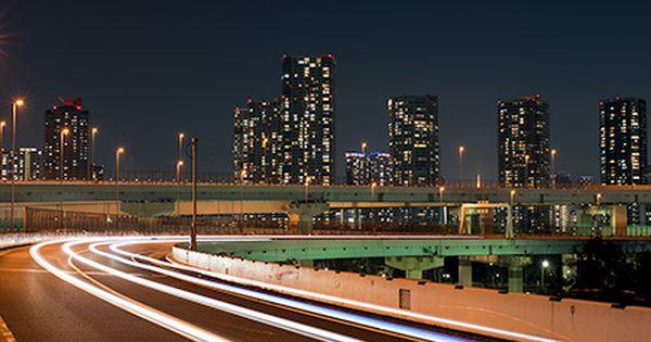 首都高速の9号深川線上り線にあるパーキング 首都高の夜景撮影では有名なスポットであり 未来都市的な夜景を楽しむことができます 夜景 都市 夜景 東京