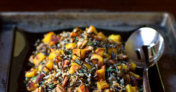 Forbidden Rice with Acorn Squash and Pecans | Recipe | Acorn Squash ...
