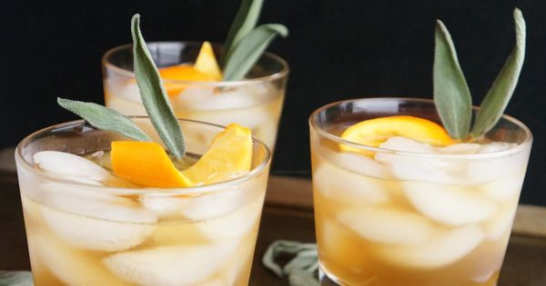 Honey Winter Bourbon Cocktail with Honey Sage Syrup | Recipe | Bourbon ...