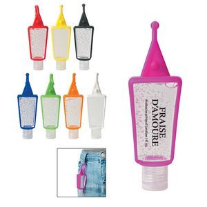 Custom Printed 2 Oz Hand Sanitizer And Custom Printed Leash Great