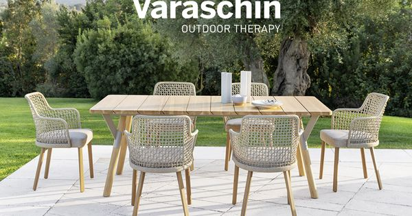 Sedute Outdoor Versatili Emma By Monica Armani Varaschin Gartenmobel Design Gartenmobel Innenarchitektur