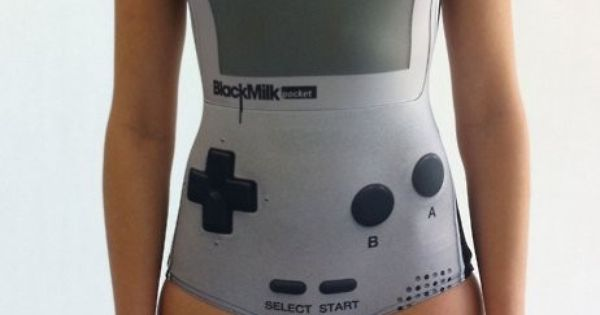 Game Boy bathing suit. cute!