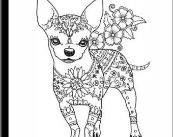 Art Of Chihuahua Coloring Book Volume No 1 Physical Book Chihuahua Art Dog Coloring Page Coloring Books