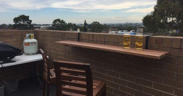 Hanging Balcony Bar Table Balcony Bar Balcony Design Patio Bar Set