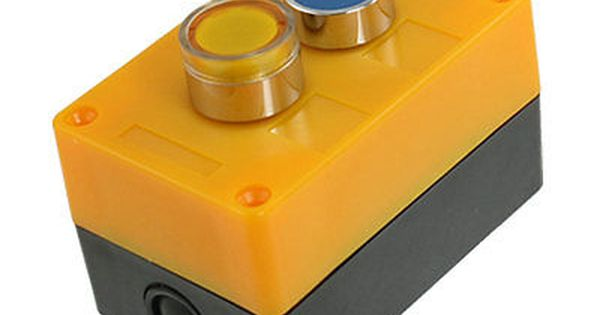 Ac 110v Yellow Indicator Light Blue Momentary Push Button Switch Station Box No Indicator Lights Light Blue Blue Flats
