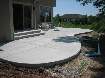 Simple Concrete Stamped Patios Google Search Backyard Spaces