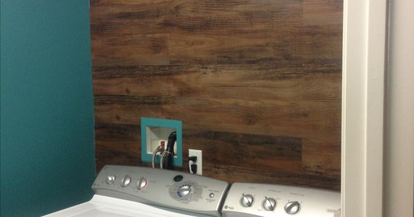 Wife Used Wood Vinyl Flooring The Wall For Home Pinterest Vinyls
