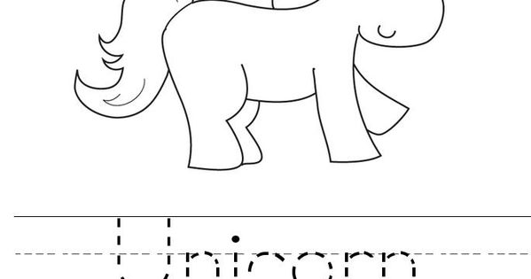 U is for unicorn coloring page | Coloring Pages ...