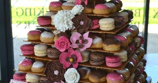 Id es originales de dessert de mariage piece montee macarons choux inspirations mariage melle - Photos de pieces montees originales ...