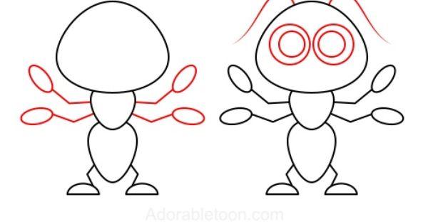 Comment dessiner une fourmi dessins pinterest ant drawings and easy drawings - Comment dessiner une fourmi ...