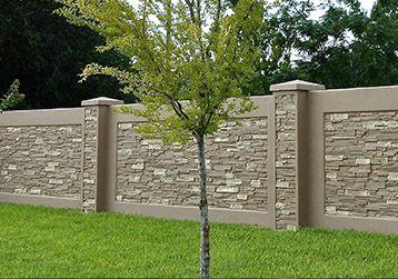 Maintenance Free Stone Fence Walls Halfsize Backyard Fences Front Yard Fence Fence Landscaping
